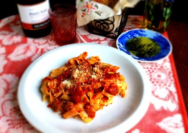 Pappardelle with Italian Meat Sauce